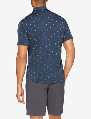 Tommy John Go Anywhere Performance Un-Tucked Short Sleeve Shirt, Printed