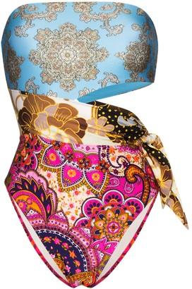 Zimmermann Fiesta printed bandeau swimsuit