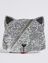 Marks and Spencer Kids' Faux Leather Sequin Cross Body Bag