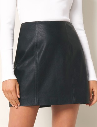 Ever New Peyton Seamed Faux Leather Mini Skirt