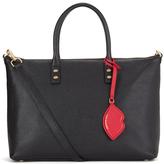 Lulu Guinness Women's Frances Medium Tote Bag with Lip Charm Black