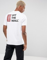 Vans T-Shirt With Off The Wall Back Print In White V5y0wht