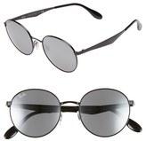 Ray-Ban Women's 'Highstreet' 51Mm Round Sunglasses - Shiny Black
