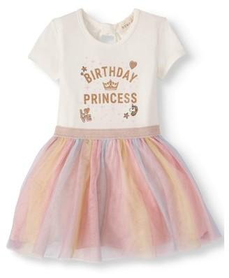 Btween Toddler Girls Birthday Tutu Dress (Sizes 2T-4T)