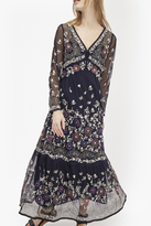 French Connection Mara Bloom Embroidered Maxi Dress