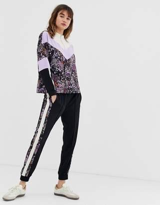 InWear Hestia floral side stripe pants-Black