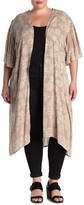 Angie Paisley Floral Kimono Sleeve Duster (Plus Size)