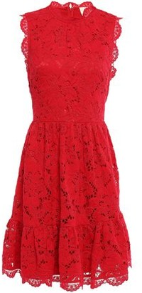 Kate Spade Flared Gathered Corded Lace Dress