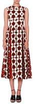 Valentino Cuban Flower Sleeveless Midi Dress, Multi