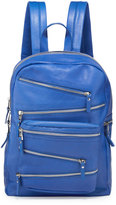Ash Angel Large Zip-Front Leather Backpack, Sapphire