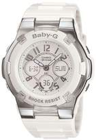 Baby-G White Resin Rhinestone Ana-Digi Multifunction Worldtime Watch