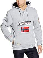 Geographical Norway Men's Hooded Long Sweatshirt grey