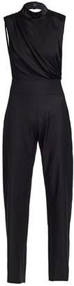Carolina Ritzler High-Neck Sleeveless Jumpsuit