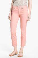 Tory Burch 'Alexa' Crop Skinny Stretch Jeans (Light Coral)