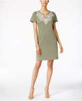 Karen Scott Cotton Printed T-Shirt Dress, Created for Macy's