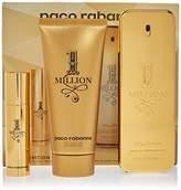 Paco Rabanne 1 Million Fragrance By 3pc Travel Edition Gift Set . 3.4 Fl.Oz. Eau De Toilette Spray + 3.4 S/G Men+10 ml-0.34 fl.spray Mini For Men
