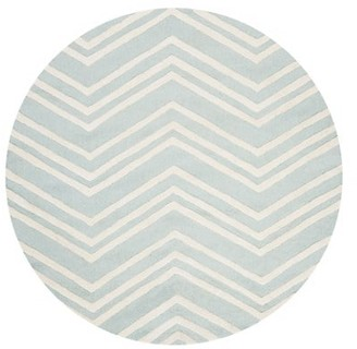 Safavieh Wave Round Hand-Tufted Wool Area Rug