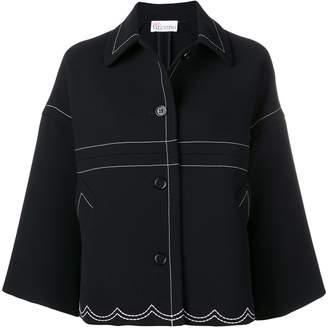 RED Valentino Stitching Detail Oversized Jacket