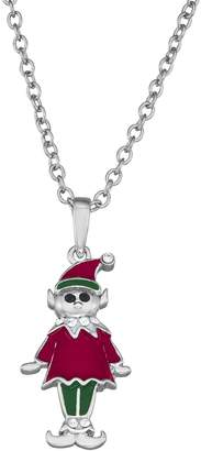 Kitschy Christmas Holiday Elf Pendant Necklace