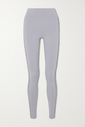Live The Process Zen Grosgrain-trimmed Stretch-supplex Leggings - Gray