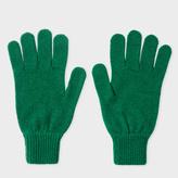 Paul Smith Men's Green Cashmere Gloves