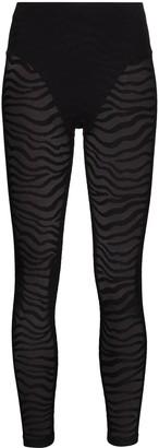 Adam Selman Sport Tiger-Print Leggings