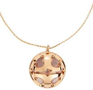Tory Burch Miller Bubble Goldtone Resin Pendant Necklace