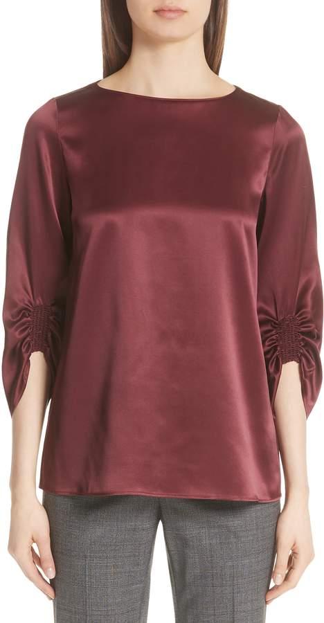 df08f2cebb2c60 Petite Silk Blouse Womens - ShopStyle