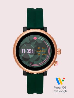 Kate Spade Green Silicone Scallop Sport Smartwatch