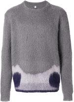 Oamc furry patterned jumper