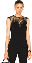Carven Lace Top in Black.