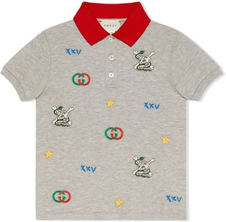 Gucci Kids Embroidered Polo Shirt
