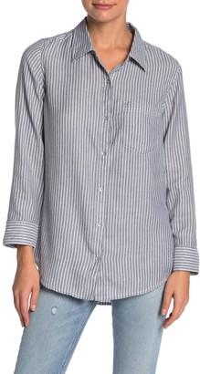 Caslon Striped Button Down Shirt (Regular & Petite)