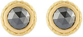 Malcolm Betts Women's Black Diamond Circular Stud Earrings
