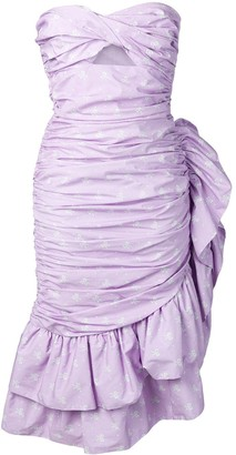 VIVETTA strapless ruffle dress