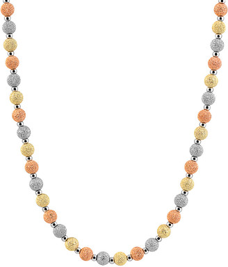 Genevive 14K Plated & Silver Cz Necklace