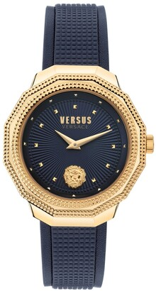 Versus By Versace Women's Paradise Cove Blue Leather Strap Watch 37mm
