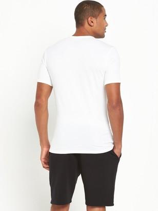 Calvin Klein 2 Pack Slim Fit T-Shirts - White
