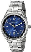 Jorg Gray Men's Quartz Watch with Blue Dial Analogue Display and Silver Stainless Steel Bracelet JG6100-12