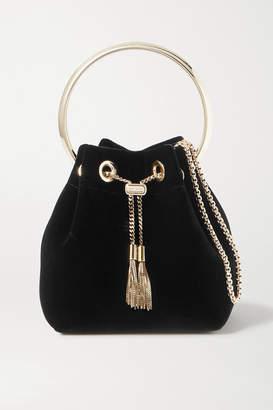 Jimmy Choo Bon Bon Velvet Bucket Bag - Black