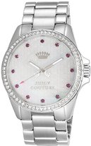 Juicy Couture Stella Women's Quartz Watch with Mother of Pearl Dial Analogue Display and Silver Stainless Steel Bracelet 1901008