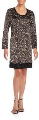 Rag & Bone Long Sleeve Speckled Shift Dress