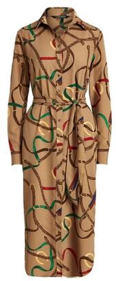 Lauren Ralph Lauren Ralph Lauren Belting-Print Crepe Shirtdress