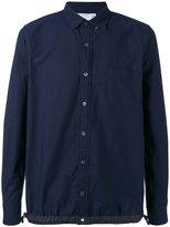 Sacai drawstring oxford shirt - men - Cotton - 1