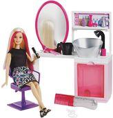 Barbie Sparkle Style Salon with Blonde Doll