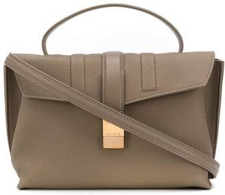 Agnona Pebbled-Effect Leather Satchel
