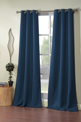 Duck River Textile Steyna Solid Blackout Curtain Set - Navy