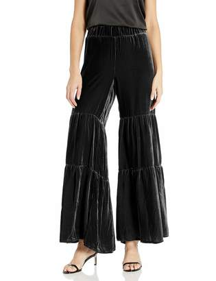 For Love and Liberty Women's Velvet Tiered Long Pants