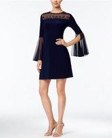 MSK Embellished Illusion Bell-Sleeve Dress