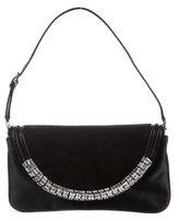 Giuseppe Zanotti Crystal Embellished Satin Evening Bag